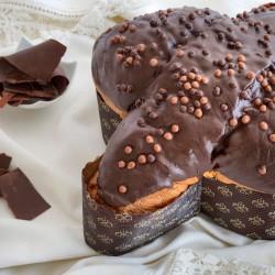 Paloma de Pascua con chocolate