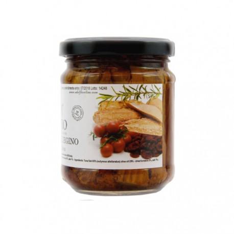 Tonno con pomodorino secco all'olio d'oliva