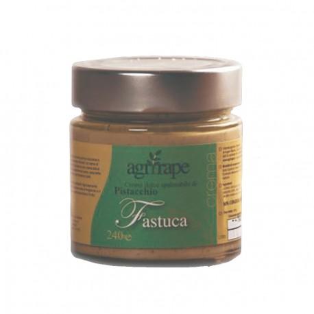Fastuca crema dolce spalmabile di pistacchio siciliano.